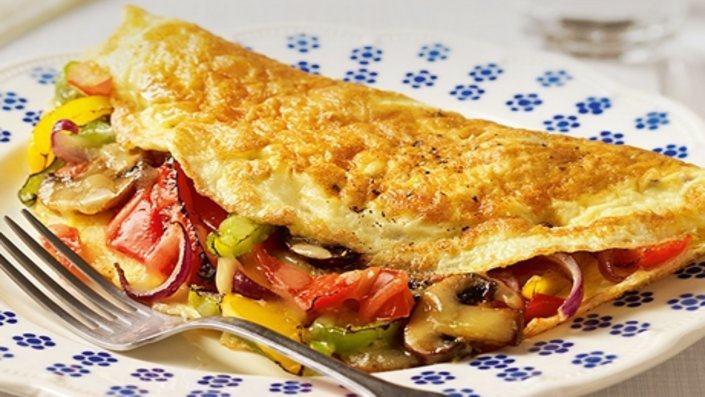 cheese-and-mushroom-omelette